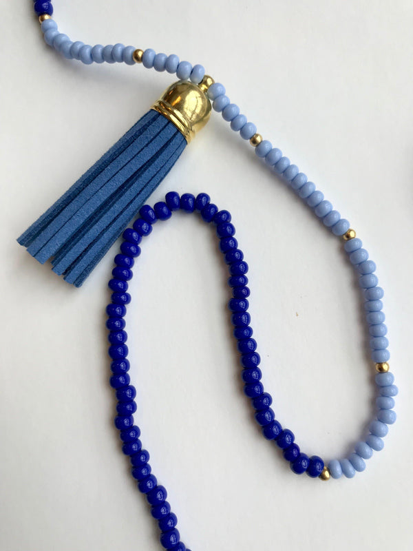 Blue Tassel Chain