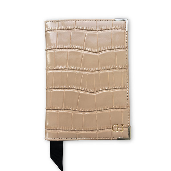 Embossed Genuine Croc Leather Passport Holder