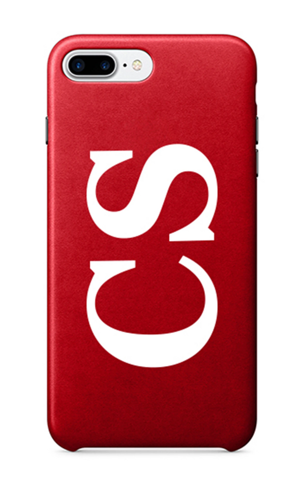 Large Initials Monogram Phone Case Red