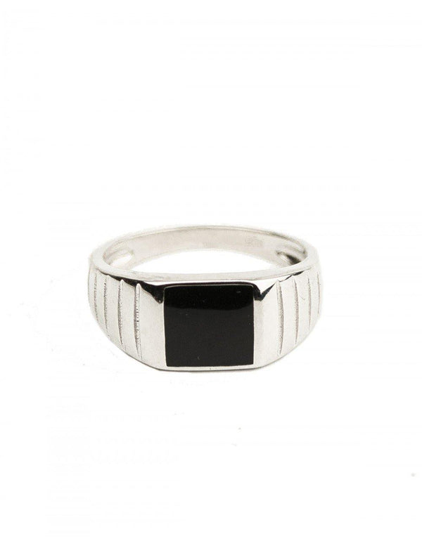Black Clock Signet Ring