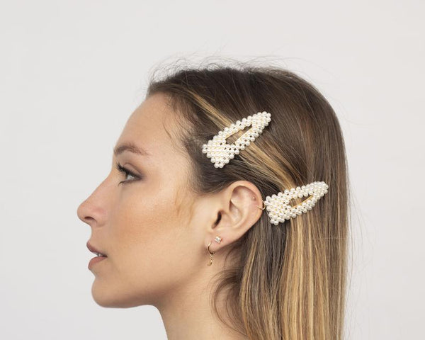 Triangle Pearl Hairclip