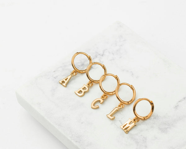 Alphabet Earrings