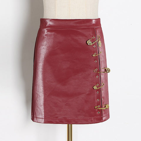 Zoey Leather Skirt