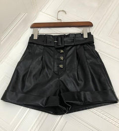 Roja PPU Leather Shorts