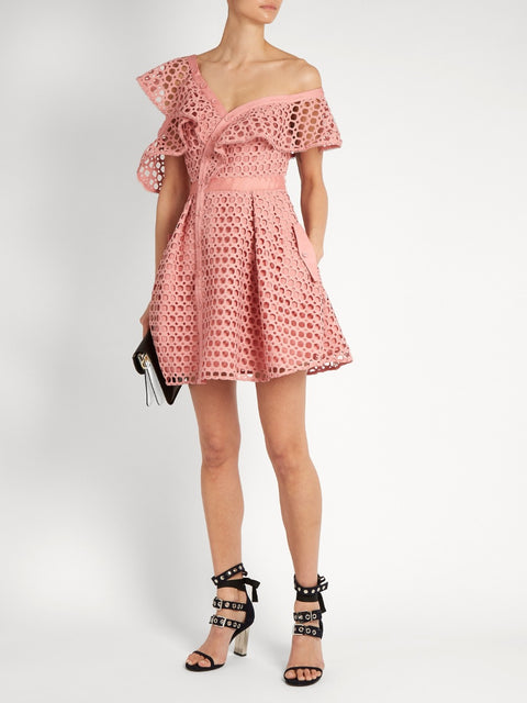 Shoulder off Rose Dress