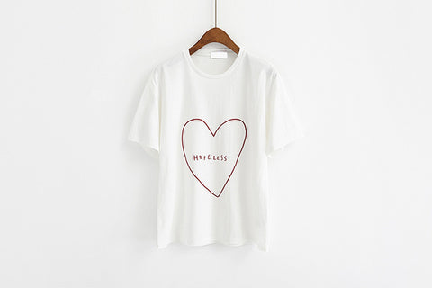 Embroidery Heart Tee