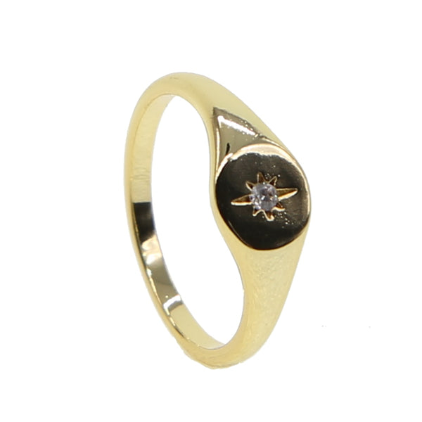 Star Blink Signet Ring
