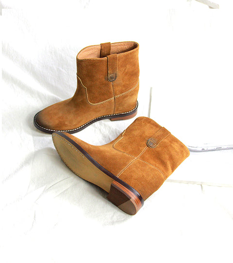 Sude Wedge Boots