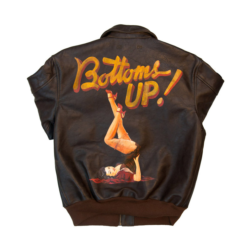 40th Anniversary Bottoms Up A-2 Pinup Jacket back