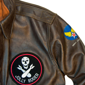 40th Anniversary Bottoms Up A-2 Pinup Jacket Jolly Roger