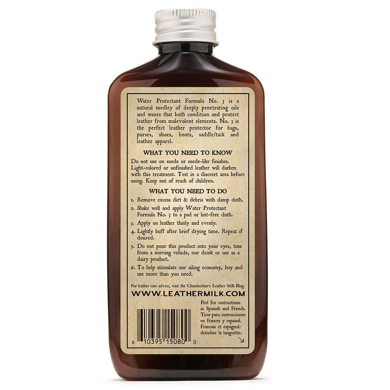 Leather Milk® Water Protectant No.3 6oz w pad Z99Y013