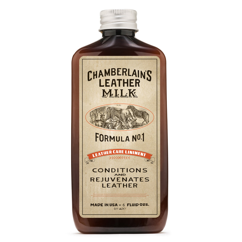 Leather Milk® Leather Care Liniment No. 1 6oz w pad