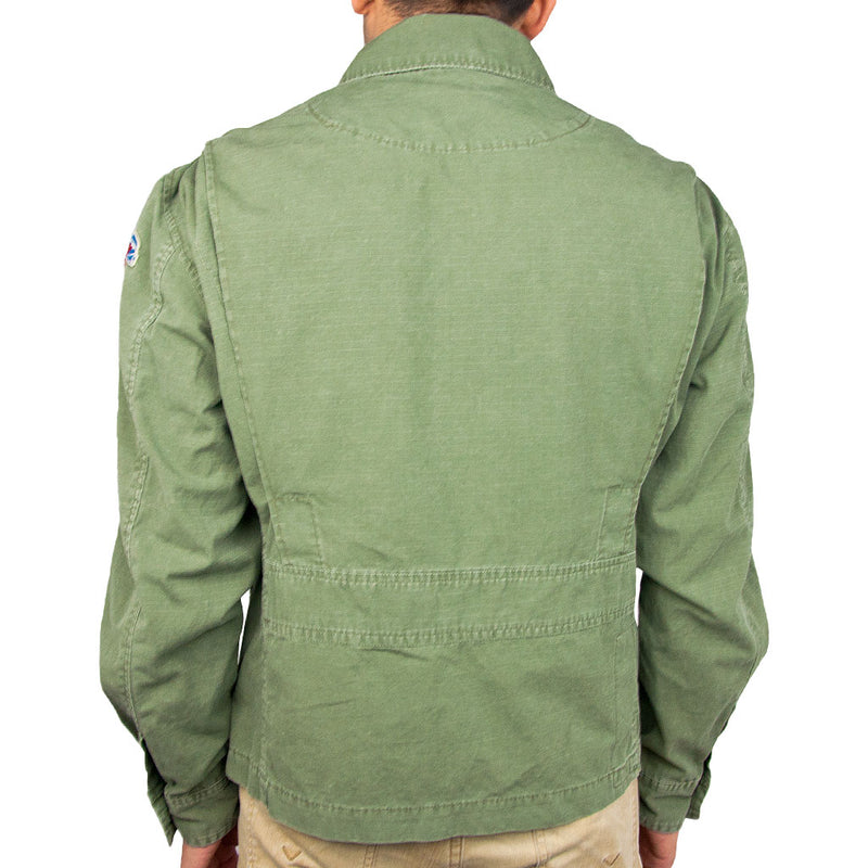 7th Fleet Tropical Flight Jacket olive back