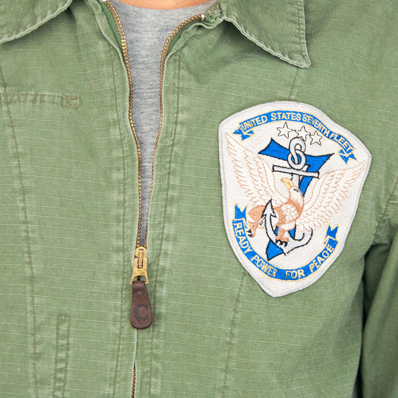7th Fleet Tropical Flight Jacket olive chest patch