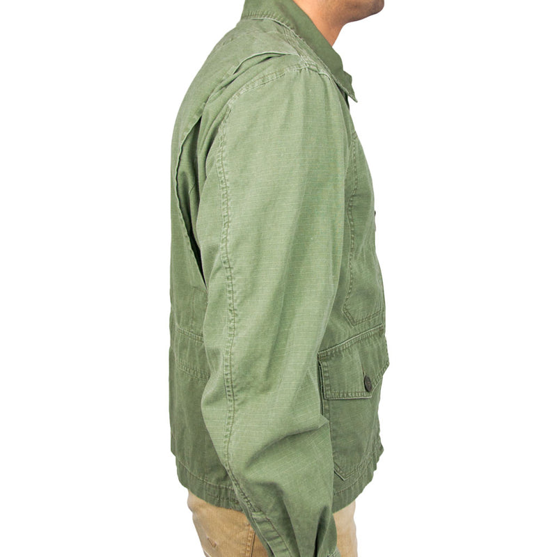 7th Fleet Tropical Flight Jacket olive side