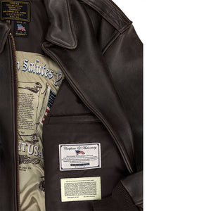 "Printed ""Remember Pearl Harbor"" A-2 Flight Jacket"