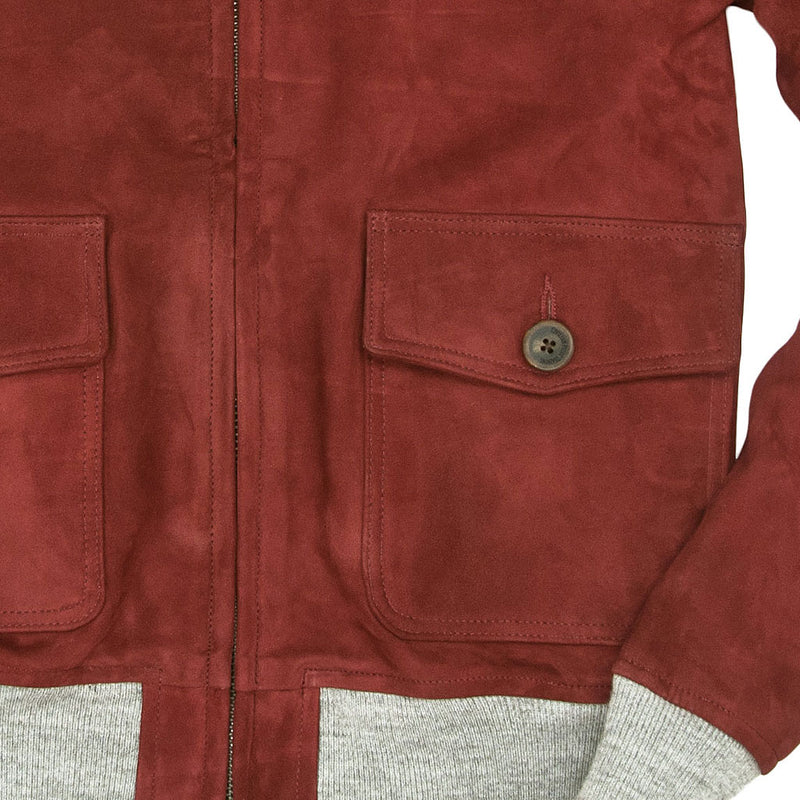 Airman Suede Bomber Jacket pocket