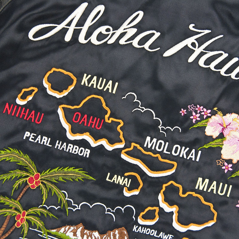 Aloha Hawaii Souvenir Jacket -Black