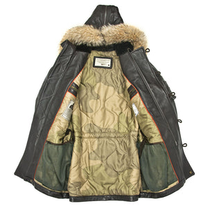 Antique Lamb N3B Long Parka