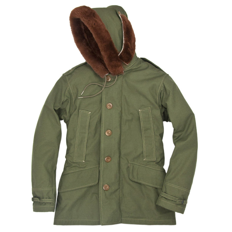 B-11 Winter Parka hood to the side