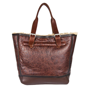 Distressed B-3 Bag russet back
