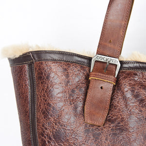 Distressed B-3 Bag russet leather strap