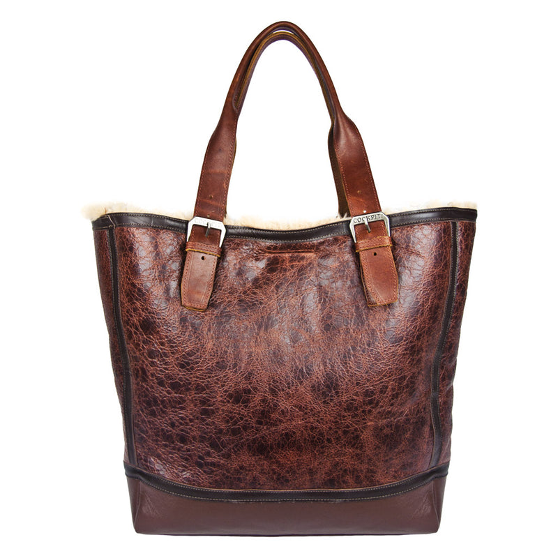 Distressed B-3 Bag in russet