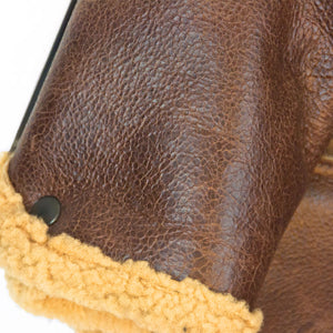 B-6 Shearling Bomber Jacket cuff detail