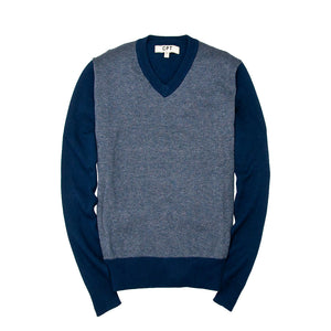 Bird's Eye Sweater in Navy