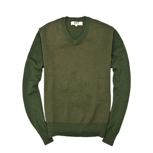 Bird's Eye Sweater in Olive