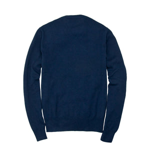 Bird's Eye Sweater in Navy Back