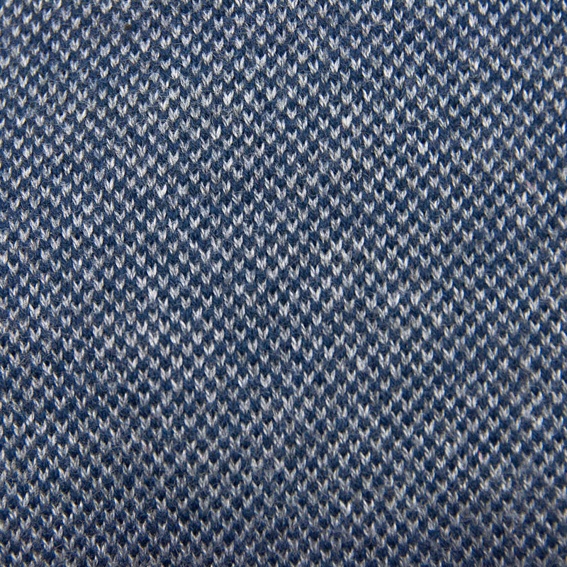 Bird's Eye Sweater Navy Knit Detail