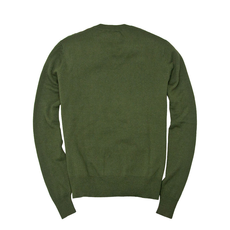 Bird's Eye Sweater in Olive Back