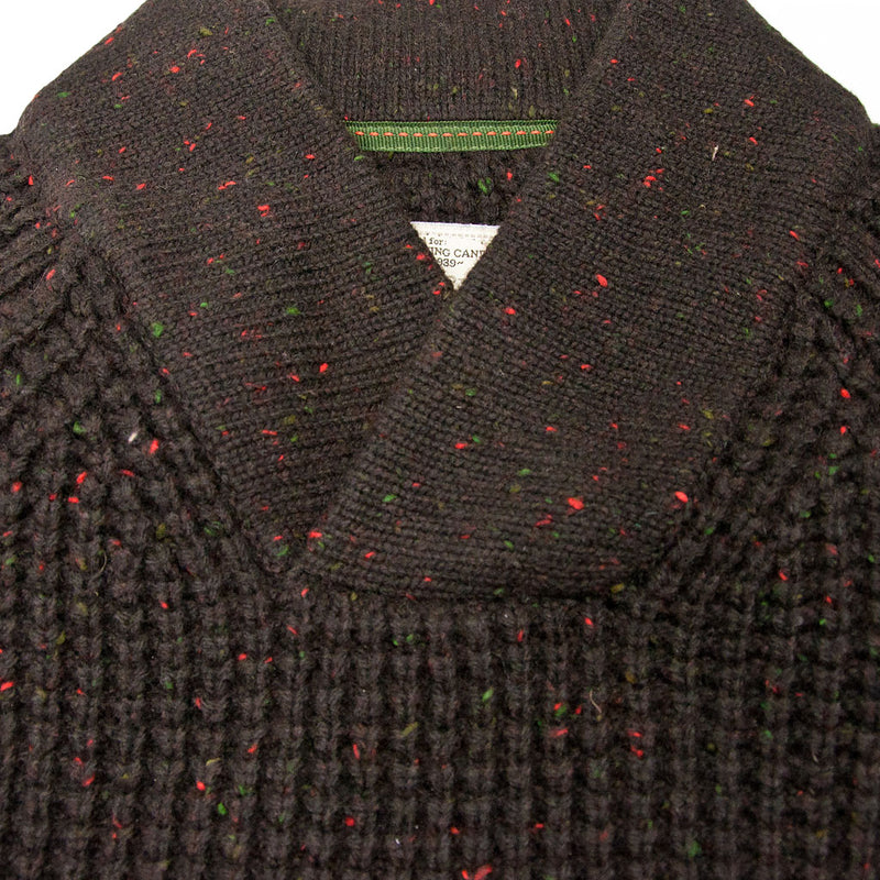 Centennial Waffle Knit Sweater in Brown Collar