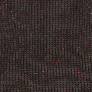 Centennial Waffle Knit Sweater in Brown Knit Detail