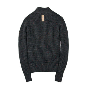 Centennial Waffle Knit Sweater in Charcoal Back