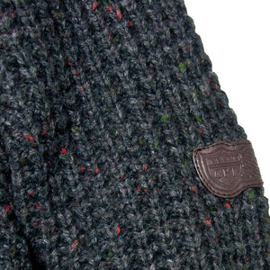 Centennial Waffle Knit Sweater in Charcoal CPT Detail