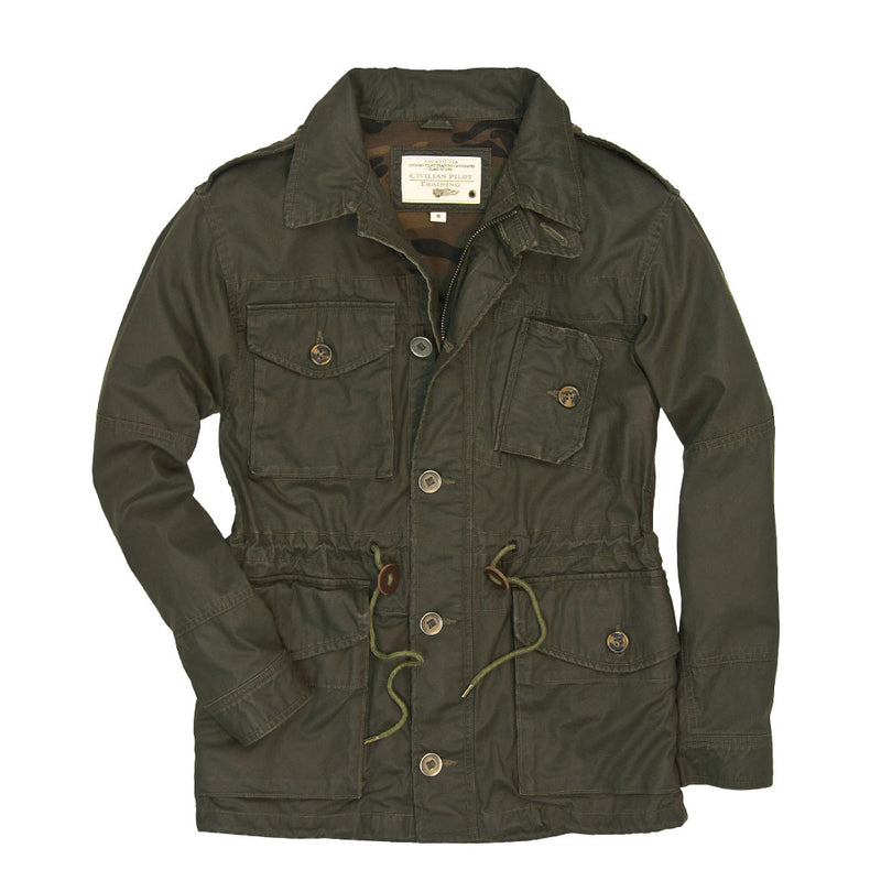 Coated Cotton Field Jacket
