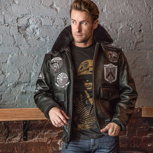 Bogard by Mike B x Cockpit USA Stealth Top Gun Bomber Jacket