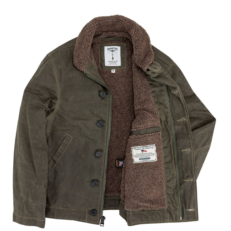 Cockpit USA X American Trench N1 Wax Deck Jacket