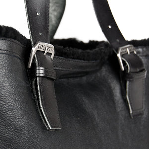 Distressed B-3 Bag black detail