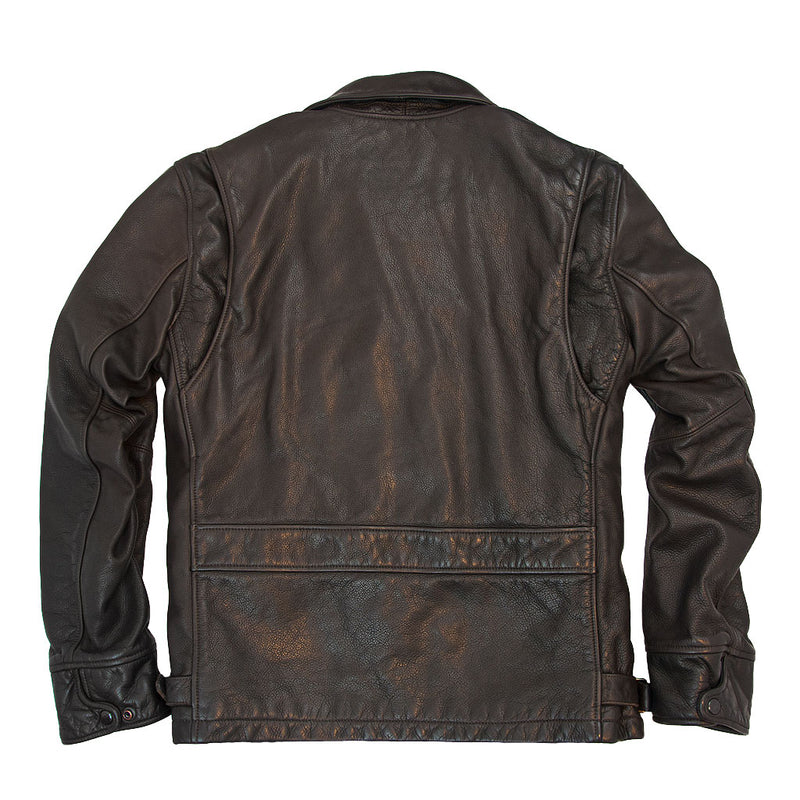 Division Commander's Leather Tanker Jacket back