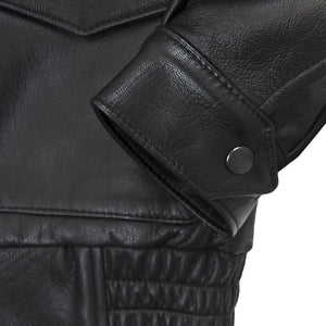 Flight Rider Leather Jacket cuff detail
