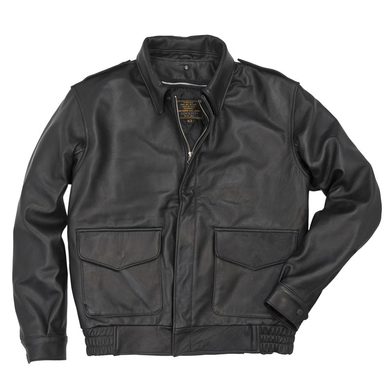 Flight Rider Leather Jacket without collar