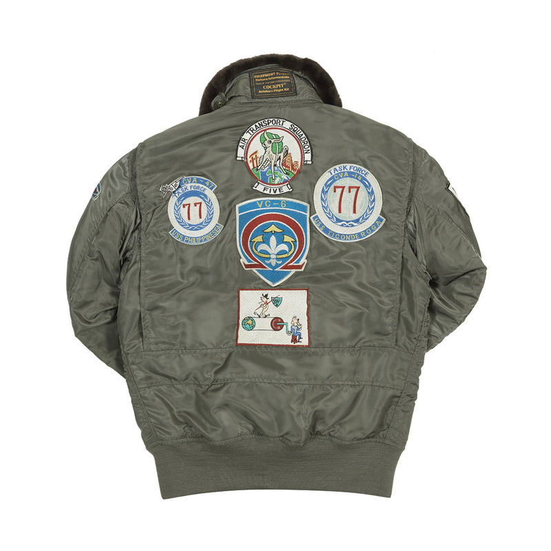 G-1 US Fighter Weapons Jacket with Patches back
