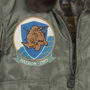 G-1 US Fighter Weapons Jacket with Patches front detail