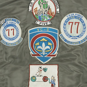 G-1 US Fighter Weapons Jacket with Patches back detail