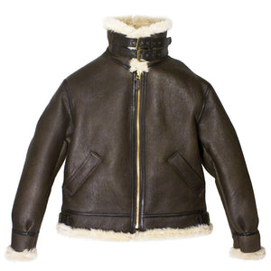 Genuine B-3 Bomber Jacket with collar up