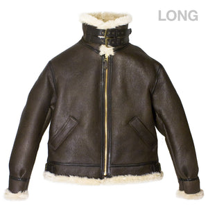 Genuine B-3 Bomber Jacket (Long) with closed collar