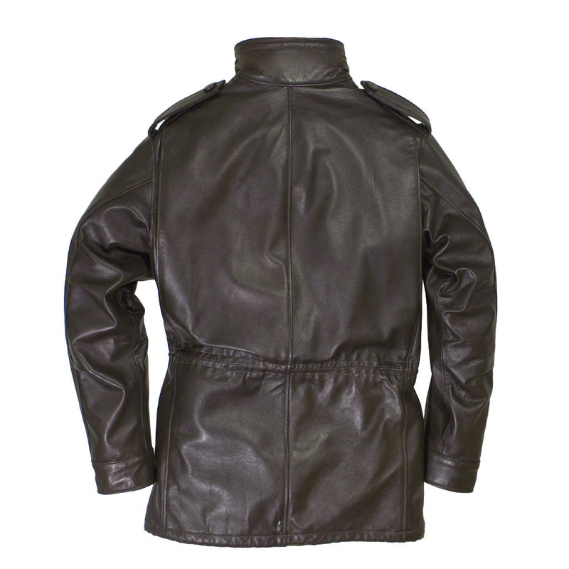 Leather M-65 Field Jacket back